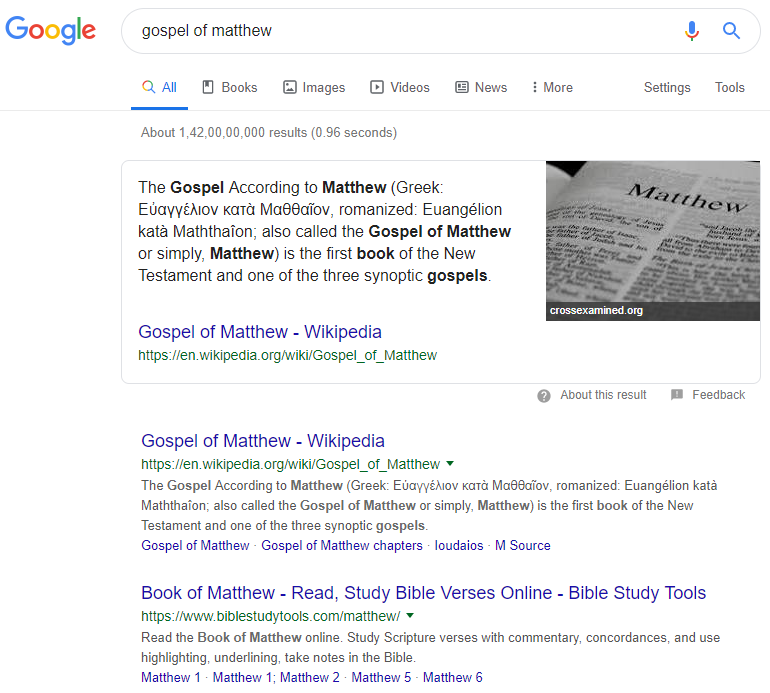 Generic seo results